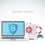 Fond de sécurité des systèmes Photographie stock