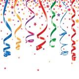 Fond de serpentine et de confettis Images libres de droits