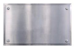 Fond de signe en métal Photo stock