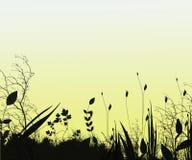 Fond de silhouette d'imagination Photographie stock