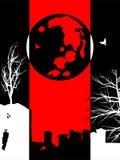 Fond de silhouette de Halloween de trois couleurs photos libres de droits