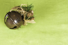 Fond de Sleigh Bell de Noël Photographie stock libre de droits