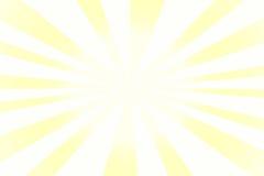Fond de soleil avec les rayures blanches et jaunes Photographie stock libre de droits