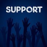 Fond de soutien  Photographie stock