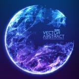 Fond de sphère démoli par vecteur abstrait illustration de vecteur