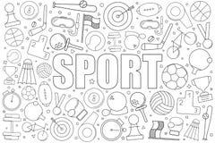 Fond de sport de ligne icône modèle linéaire de vecteur photos libres de droits
