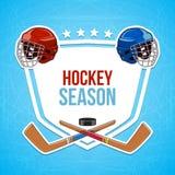 Fond de sports d'hiver Saison d'hockey Photographie stock libre de droits