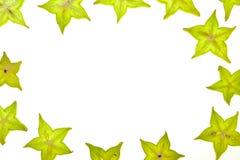 Fond de Starfruit (carambolier) Images stock