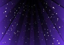 Fond de Starful avec les pistes pourprées Photographie stock