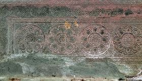 Fond de statue de bas-relief de culture de Khmer dans Angkor Vat, came photo stock
