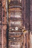 Fond de statue de bas-relief de culture de Khmer dans Angkor Vat, came photographie stock libre de droits
