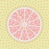 Fond de style d'art de bruit de tranche de pamplemousse illustration libre de droits