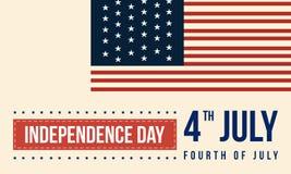 Fond de style de collection de Jour de la Déclaration d'Indépendance Photos stock