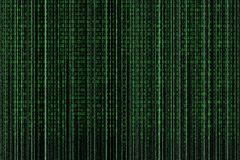 Fond de style de Matrix, nombres en baisse verts photographie stock