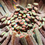 Fond de sucreries de gelée La boutique de sucrerie Les bonbons à gelée se ferment  Sucreries gommeuses assorties colorées Sucreri photos libres de droits
