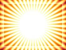 Fond de Sun, pistes jaunes Image stock