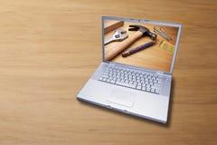 Fond de support de construction d'outils informatiques Photographie stock libre de droits