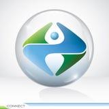 Fond de symbole de connexion Image stock