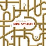 Fond de système de tuyau