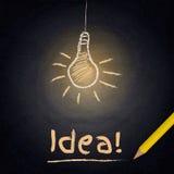 Fond de tableau avec la lampe de dessin Concept d'idée illustration de vecteur