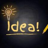 Fond de tableau avec la lampe de dessin Concept d'idée illustration libre de droits