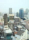 Fond de tache floue de bâtiments, paysage urbain de Bangkok photo libre de droits