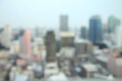 Fond de tache floue de bâtiments, paysage urbain de Bangkok images stock