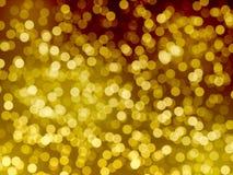 Fond de tache floue de lumières d'or Image stock