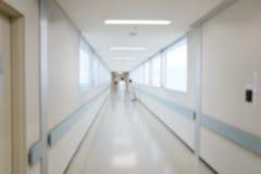 Fond de tache floue de passage couvert d'hôpital Image stock
