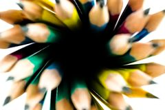 Fond de tache floue des crayons Photo libre de droits
