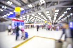 Fond de tache floue : Enregistrement terminal de départ à l'aéroport Photographie stock libre de droits