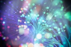 Fond de tache floue (les particules volent dans l'espace) Photo stock