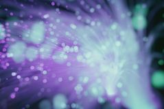 Fond de tache floue (les particules volent dans l'espace) Image stock