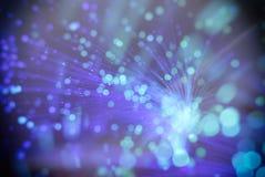 Fond de tache floue (les particules volent dans l'espace) Photos libres de droits
