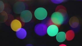 Fond de tache floue de lumières de Bokeh banque de vidéos