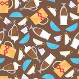 Fond de tasses de café Images stock