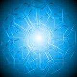Fond de technologie avec la texture d'hexagone Images stock