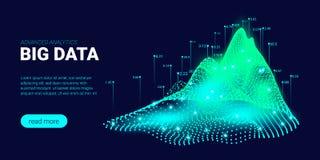Fond de technologie avec le courant de Big Data illustration de vecteur