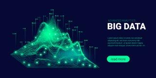 Fond de technologie avec le courant de Big Data illustration libre de droits