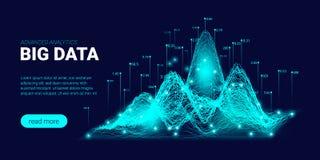 Fond de technologie avec le courant de Big Data illustration stock