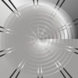 Fond de technologie avec le metalperforé de cercle Images stock
