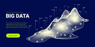 Fond de technologie, courant de Big Data illustration libre de droits