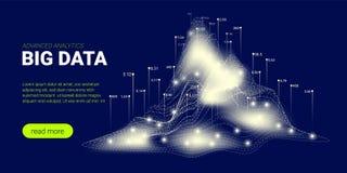 Fond de technologie, courant de Big Data illustration stock