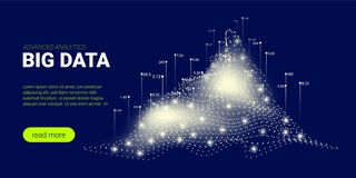 Fond de technologie, courant de Big Data illustration de vecteur