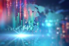 Fond de technologie d'abrégé sur numéro de code de Digital Images stock