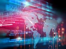 Fond de technologie d'abrégé sur numéro de code de Digital Image stock