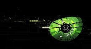 Fond de technologie d'abrégé sur oeil vert Photos libres de droits
