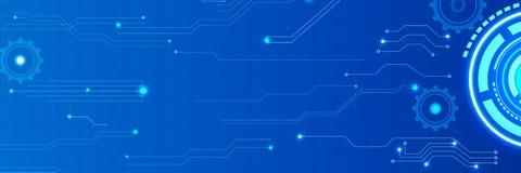 Fond de technologie d'intelligence image libre de droits
