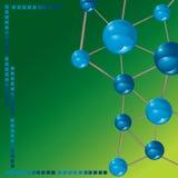 Fond de technologie de molécule Photos stock