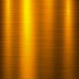 Fond de technologie en métal d'or Images libres de droits